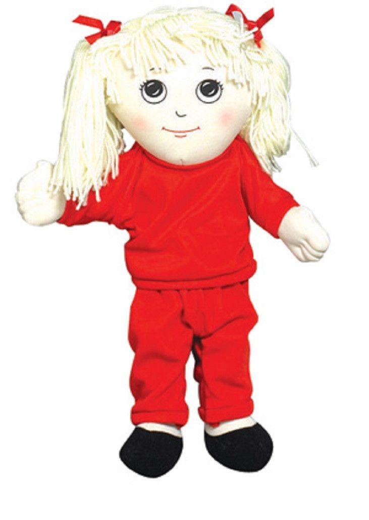 Children's Factory Sweat Suit Doll - Caucasian Girl CF100-729