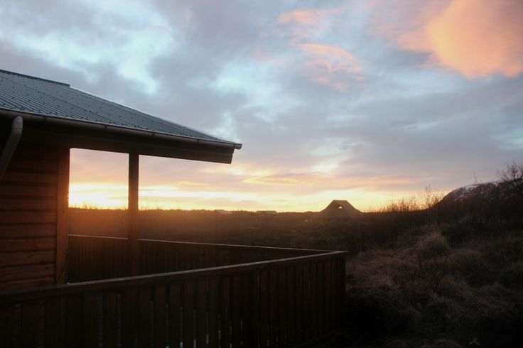 beautiful morning view from my cottage #view #morning #iceland #cottage