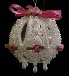 How to Make Victorian Style Lace Christmas Ornaments#slide12223166                                                                                                                                                                                 More