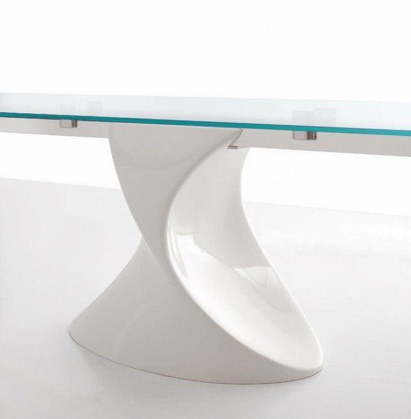 Glastisch ausziehbar awesome esstisch ravenna glas for Design esstisch concord