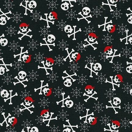 Fabulous Fox Fabric, Skulls in Black, Modern fabric, Pirate fabric, Boy fabric, Andie Hanna- Nursery Fabric, Quilt Fabric, Choose your cut by FabricShoppe on Etsy