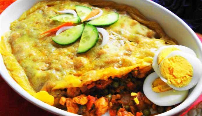 Surinaams eten – Pastei Surinam Trafasie (luxe pastei voor bij rijst)