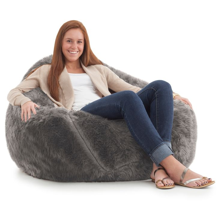 Always Have Some Extra Seating Lying Around When You Set Out The Shag Teardrop Bean Bag