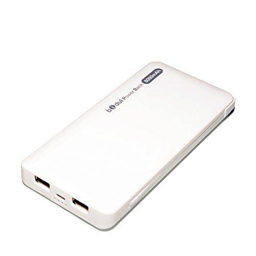 BIDUL PowerBank 8000mAh - Blanche BIDUL BIDUL  Ne rester plus sans pouvoir recharger votre Smartphone, votre Tablette, votre appareil photo, votre GPS, votre camera Sport..... La power Bank Bidul 8000mAh vous permet de recharger au moins 5 fois completement un smartphones...