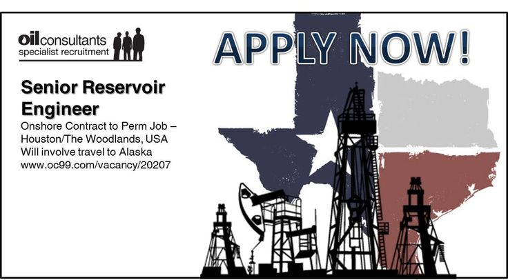 Job for a senior reservoir engineer in texas usa