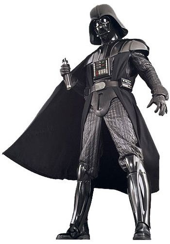 Authentic Darth Vader Costume $994.99 (Boots and light saber not included).  Mask includes voice module inside.  Chest piece and belt light up.