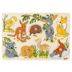 Vyberacie puzzle – austrálske zvieratká