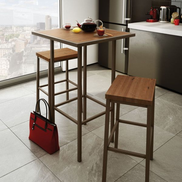 """Bradley Stationary Stool - Viking Casual Furniture. From Amisco  Available in: 26"""" and 30"""" Padded Memory Seat. Available in 12 metal finishes. Dozens of seat fabrics. Four Wood finishes to choose from."""