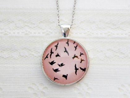 Pink Birdie Pendant