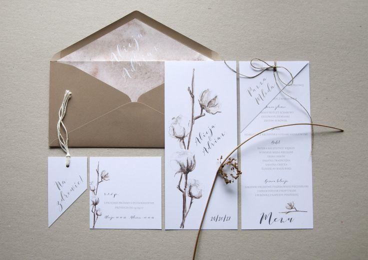 Miodunka papeteria ślubna miodunka zaproszenia ślubne Koszalin wedding wedding invitations stationery bawełna cotton nude papeteria ślubna
