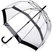 Fulton Birdcage Black Trim - see through PVC dome umbrella