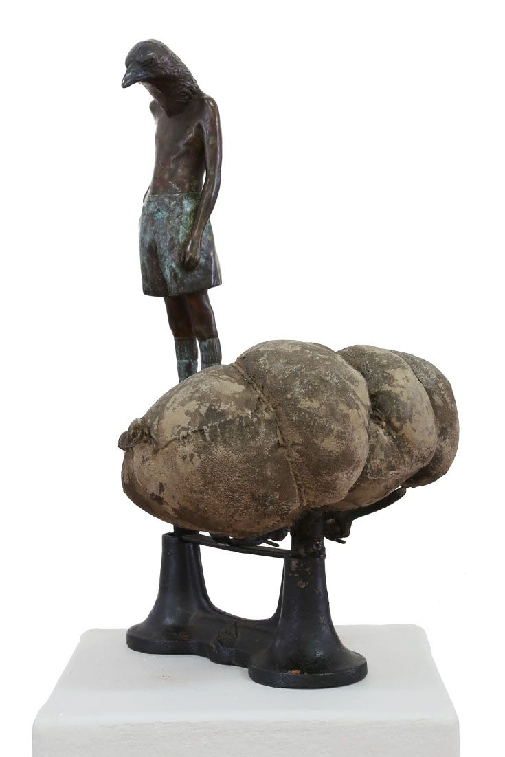 An original sculpture by Elizabeth Balcomb entitled: All that I am, bronze ed of 15, 51cm x 30cm (right side) #sculpture #bronze #ElizabethBalcomb #SouthAfricanArtist #SouthAfricanArt #Therianthrope For more please visit www.finearts.co.za