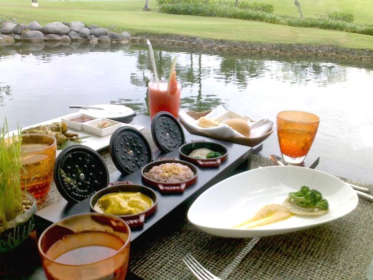 Merica Restaurant   Nasi campur - a menu favorite   Pan Pacific Nirwana Bali Resort   Tanah Lot - Bali, Indonesia