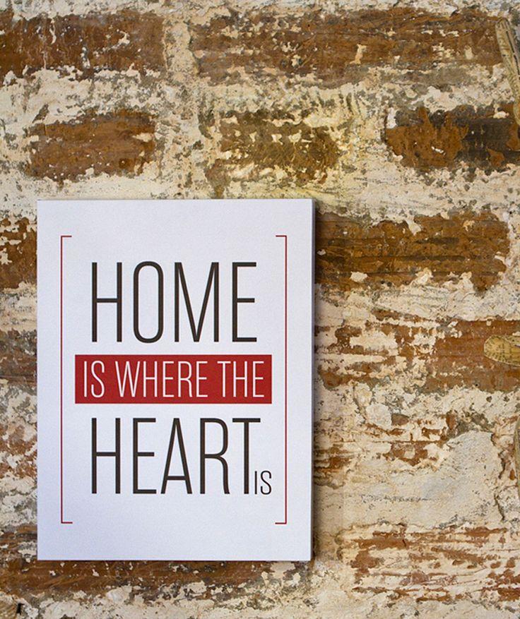 Regalos que encantan: Big Word Art en MDF [HOME IS WHERE THE HEART IS] en Giferent.