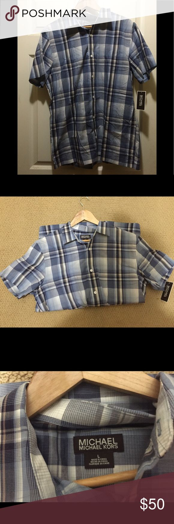 NWT MICHAEL KORS MEN'S SHIRT New with tags Michael Kors men's button up! Perfect condition and never worn. Michael Kors Shirts Casual Button Down Shirts