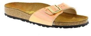Birkenstock Gold mirror rose gold madrid womens sandals