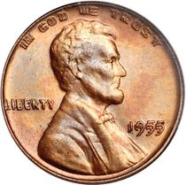 The 1955 doubled die Lincoln penny is perhaps the most famous of all doubled die coins. Photo in the public domain.