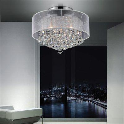 Crystal World 5062C2 Radiant Semi Flush Mount Ceiling Light