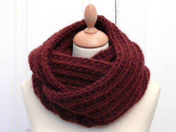 "Tutoriel : snood /écharpe tube original et chaud au point ""farrow rib"""