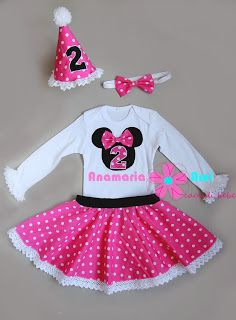 Costum aniversar Minnie roz Asa Mama asa fiica by Anamaria Ami