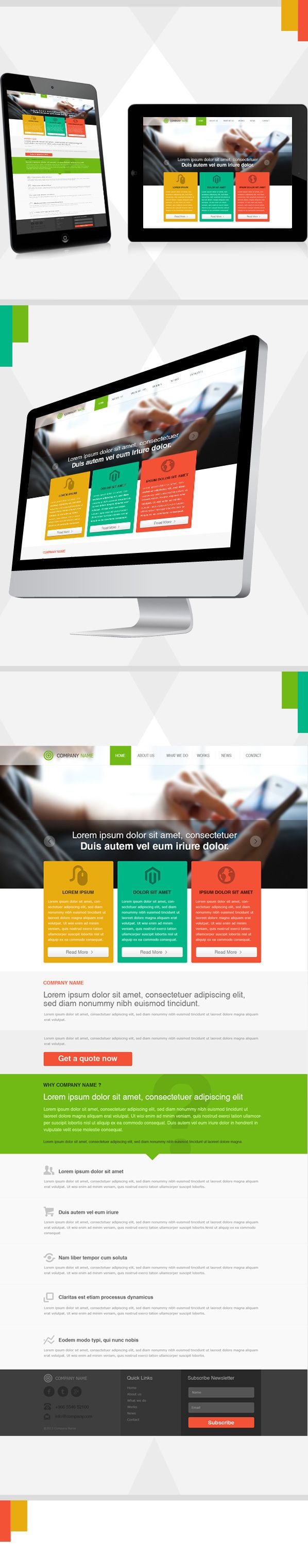 Design Template by Monish , via Behance