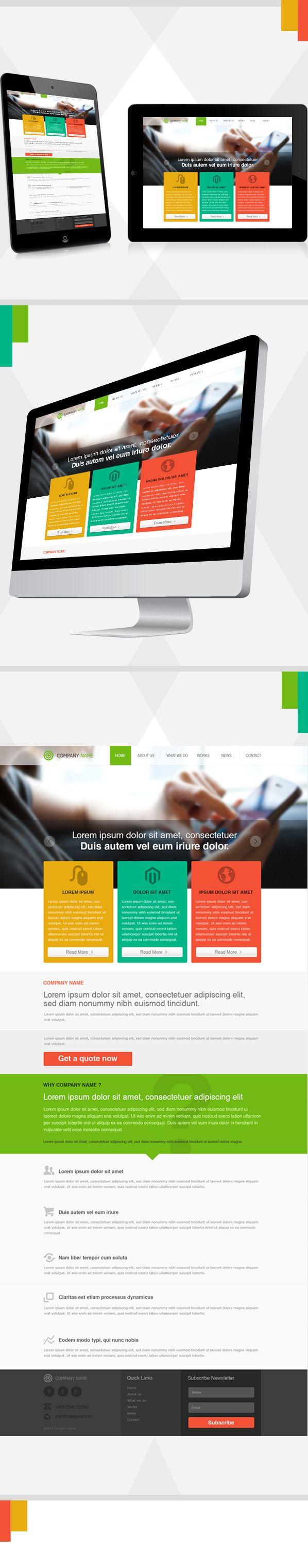 Design Template by Monish , via Behance