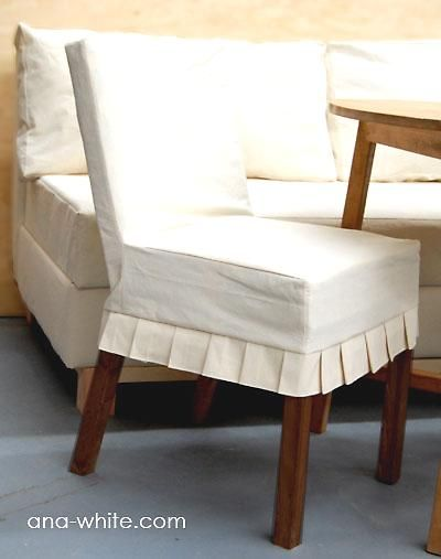drop cloth slipcover.