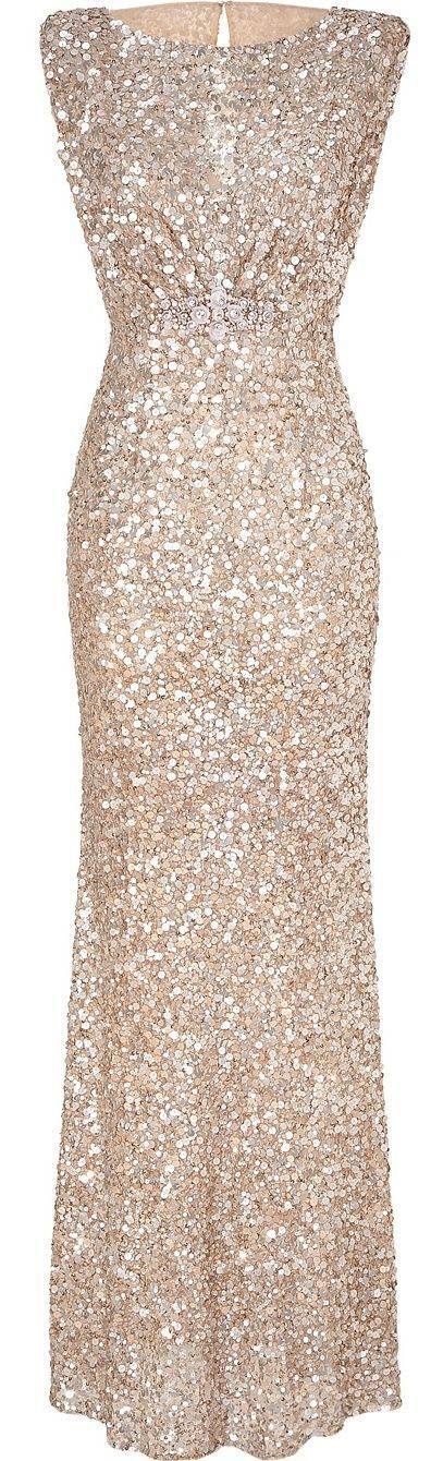 Welcome the New Year in this fully silver & silk sequined classic