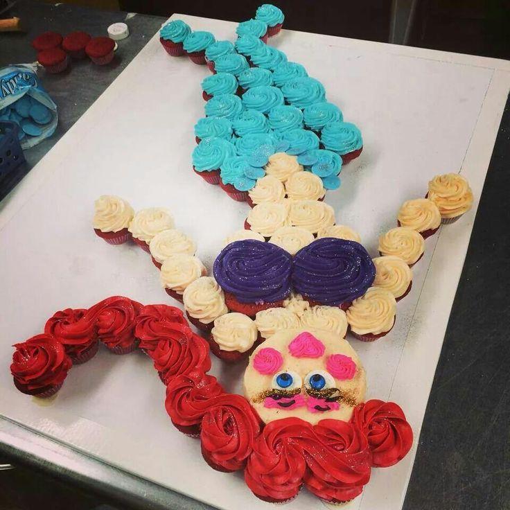 mermaid cupcake cake | Mermaids