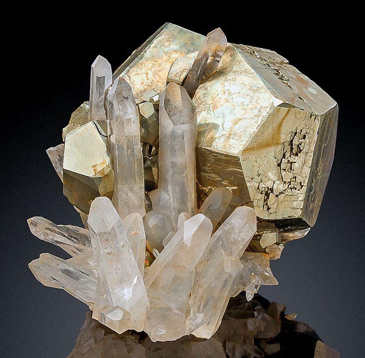 Pyrite and Quartz - Spruce Claim (Spruce Ridge), Goldmyer Hot Springs, King County, Washington