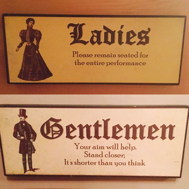 these crazy funny bathroom signs are hilarious and put a creative new twist on his u0026 hers and men u0026 women iu0027m sure iu0027d be going into the wrong restroom