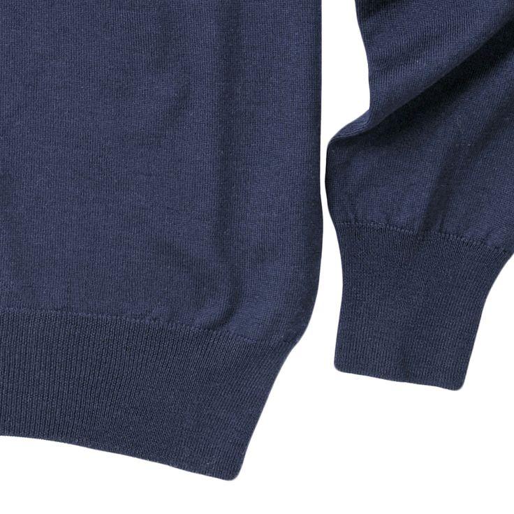 maglia modello LEONARDO, colore navy, disponibile nelle taglie M-L-XL-XXL, lana merinos extra fine, 100% made in Italy