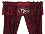 NFL San Francisco 49ers - 5pc Jersey Drapes-Curtains and Valance Set
