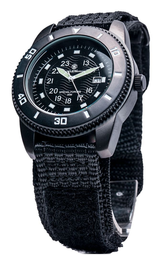 Smith Wesson Commando Military Special Forces Black Men's Sport Watch | eBay