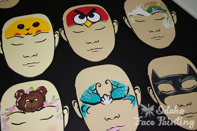 face painting display | Good ideas from the face painting forum | Eastern Idaho Face Painting