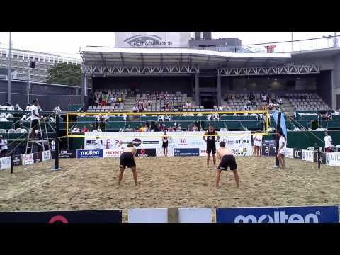NZ Beach Volleyball Open 2015 Quarterfinal - YouTube