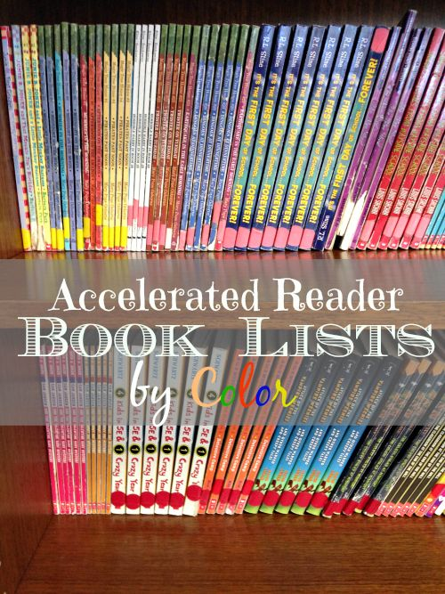 Here are lists of books for Accelerated reader levels by color. Find books according to your child's reading level and purchase them for less here. Resource