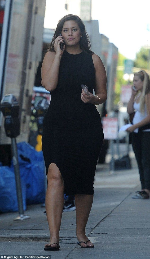 Busy day: The 28-year-old model could be seen chatting away on her mobile while walking to the studio