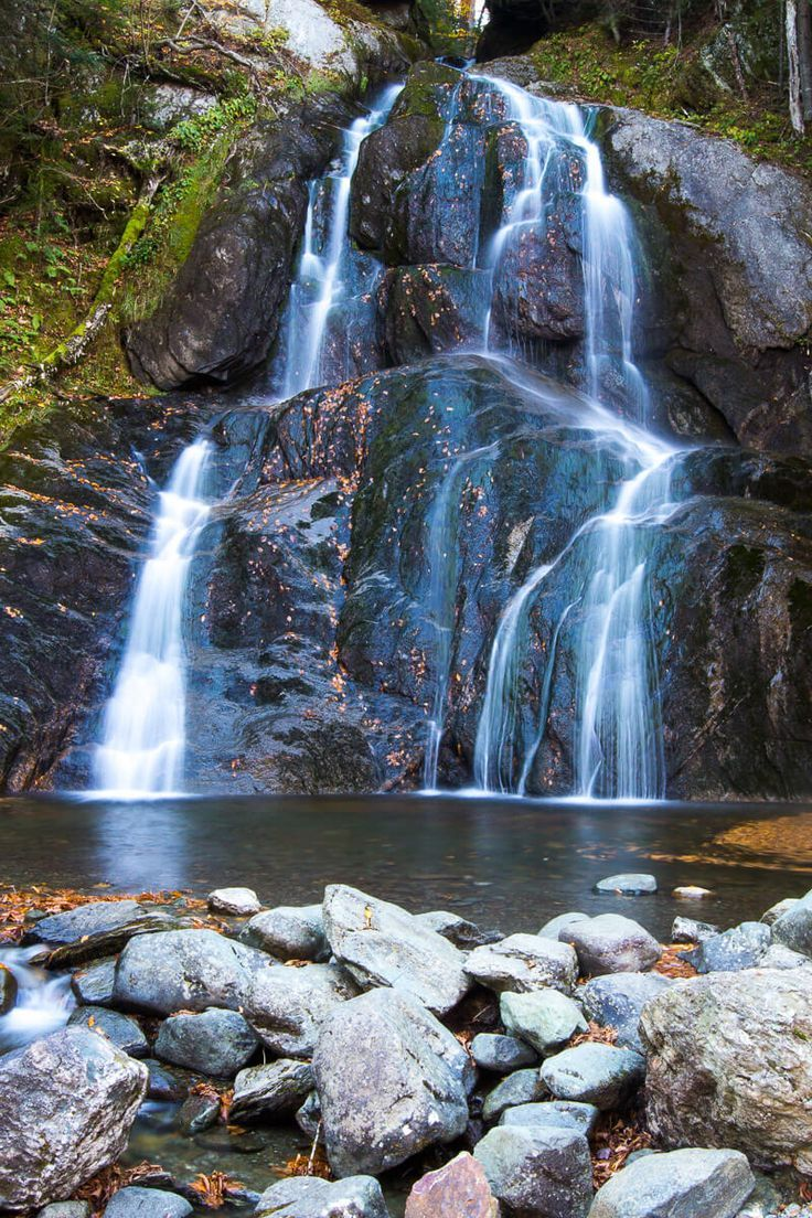 Moss Glen Falls in Vermont, New England. #waterfall #Vermont #NewEngland