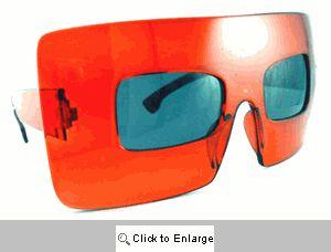 Menagerie Big Square Sunglasses - 185 Red