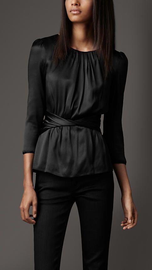 black elegance: Elegant Shirts, Burberry Shirts, French Twists, Fashion Style, Burberry Stretchsilk, Shirts 389 00, Burberry Stretch Silk, Stretch Silk Shirts, Shirts Burberry