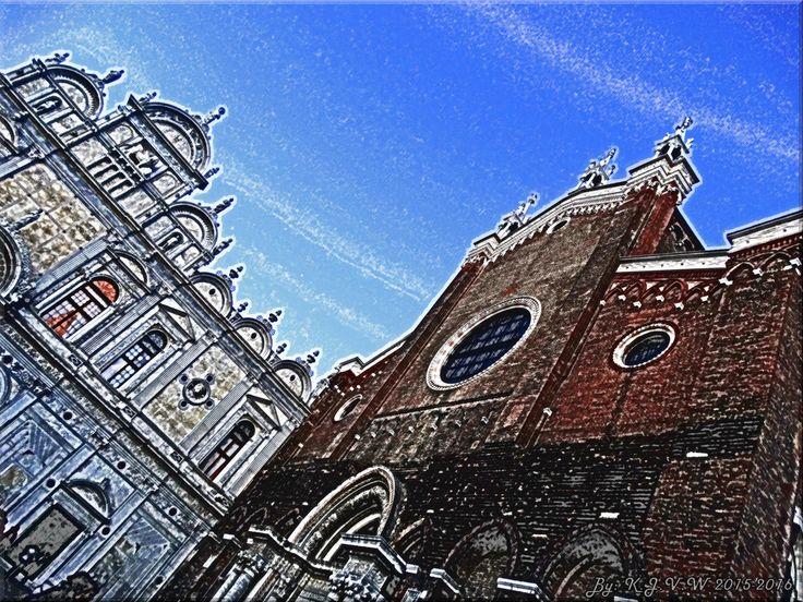 https://flic.kr/p/EqY94s | Gothic V.S Renaissance | Pick your choice:  Basilica dei Santi Giovanni e Paolo? (Gothic)   OR  Scuola Grande di San Marco? (Renaissance)
