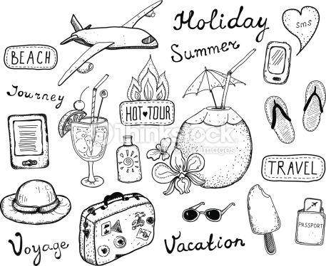 Clipart vectoriel : Travel doodle elements set