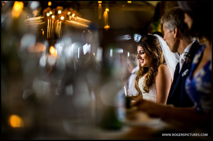 Some gorgeous light on Laura at Wasing Park as she sits for the wedding breakfast -