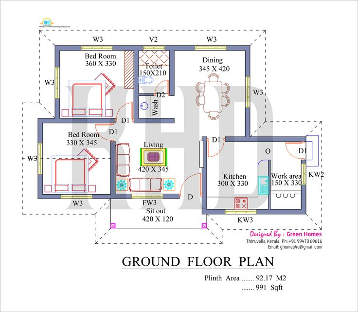 Elevation square feet kerala home design floor plans for Customize floor plans