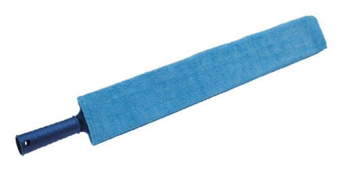 MICROSCOVOLO  Scovolo sottilissimo in microfibra per termosifoni, persiane e punti inacessibili (letti a cassettone, doccia, ecc.).  Dimensioni: 80cm