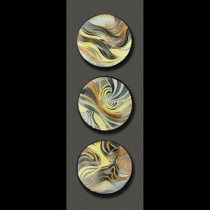 Handmade, sgraffito-carved ceramic tile by Natalie Blake