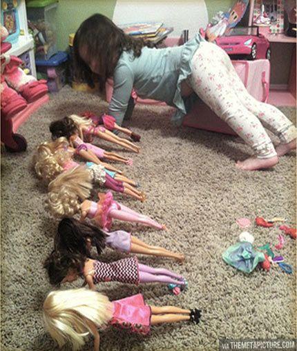 Barbie boot camp :)