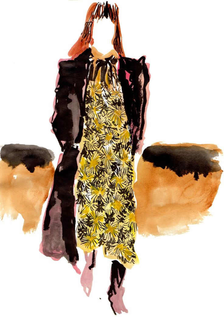 Fashion illustration of Saint Laurent 2016 Fall winter collection. 'Don't Leave Hedi Slimane'. Illustrated by ©Eunjeong Yoo 2016