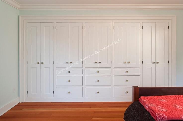 Built in bedroom storage.
